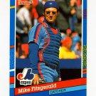 1991 Donruss Baseball #082 Mike Fitzgerald - Montreal Expos