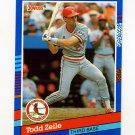 1991 Donruss Baseball #071 Todd Zeile - St. Louis Cardinals