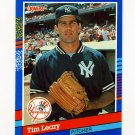 1991 Donruss Baseball #067 Tim Leary - New York Yankees