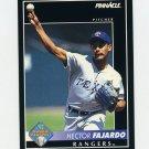1992 Pinnacle Baseball #573 Hector Fajardo RC - Texas Rangers