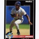 1992 Pinnacle Baseball #544 Jarvis Brown - Minnesota Twins