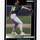 1992 Pinnacle Baseball #524 Vince Horsman - Oakland A's