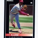 1992 Pinnacle Baseball #341 Jose DeLeon - St. Louis Cardinals