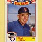1989 Topps Baseball Glossy All-Stars #01 Tom Kelly - Minnesota Twins