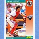 1992 Score Baseball #298 Lance Parrish - California Angels