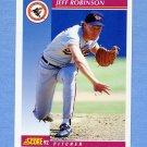 1992 Score Baseball #186 Jeff D. Robinson - Baltimore Orioles