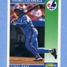1992 Score Baseball #035 Andres Galarraga - Montreal Expos
