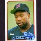 1989 Topps Baseball #650 Kirby Puckett - Minnesota Twins ExMt
