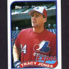 1989 Topps Baseball #373 Tracy Jones - Montreal Expos
