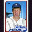 1989 Topps Baseball #359 Tommy John - New York Yankees EX