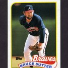 1989 Topps Baseball #011 Bruce Sutter - Atlanta Braves ExMt