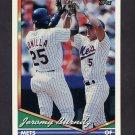 1994 Topps Baseball #122 Jeromy Burnitz - New York Mets