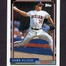 1992 Topps Baseball #523 Shawn Hillegas - Cleveland Indians