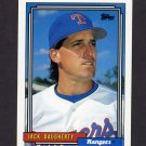 1992 Topps Baseball #344 Jack Daugherty - Texas Rangers