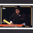 1992 Topps Baseball #180 Kevin Mitchell - San Francisco Giants