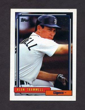 1992 Topps Baseball #120 Alan Trammell - Detroit Tigers