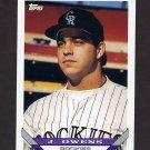 1993 Topps Baseball #606 Jayhawk Owens RC - Colorado Rockies