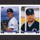 1993 Topps Baseball #476 Mark Voisard / Will Scalzitti RC - Colorado Rockies