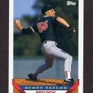 1993 Topps Baseball #456 Scott Taylor - Boston Red Sox