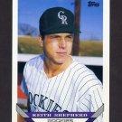 1993 Topps Baseball #447 Keith Shepherd RC - Colorado Rockies