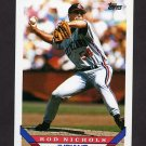 1993 Topps Baseball #372 Rod Nichols - Cleveland Indians