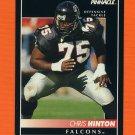 1992 Pinnacle Football #174 Chris Hinton - Atlanta Falcons