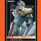 1992 Pinnacle Football #169 Greg Kragen - Denver Broncos