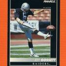 1992 Pinnacle Football #164 Jeff Gossett - Los Angeles Raiders