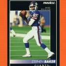 1992 Pinnacle Football #161 Stephen Baker - New York Giants