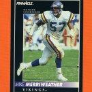 1992 Pinnacle Football #132 Mike Merriweather - Minnesota Vikings