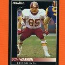 1992 Pinnacle Football #128 Don Warren - Washington Redskins