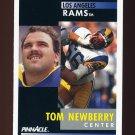 1991 Pinnacle Football #256 Tom Newberry - Los Angeles Rams