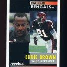1991 Pinnacle Football #180 Eddie Brown - Cincinnati Bengals