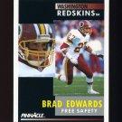 1991 Pinnacle Football #168 Brad Edwards RC - Washington Redskins