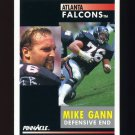 1991 Pinnacle Football #153 Mike Gann - Atlanta Falcons