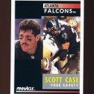 1991 Pinnacle Football #054 Scott Case - Atlanta Falcons