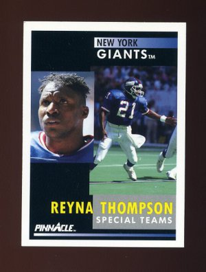 1991 Pinnacle Football #029 Reyna Thompson - New York Giants
