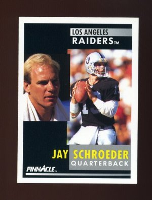 1991 Pinnacle Football #010 Jay Schroeder - Los Angeles Raiders