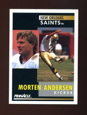 1991 Pinnacle Football #002 Morten Andersen - New Orleans Saints