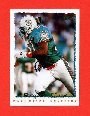1995 Topps Football #284 Bryan Cox - Miami Dolphins