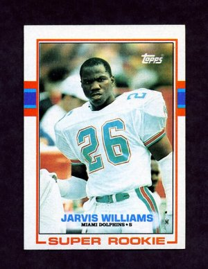 1989 Topps Football #291 Jarvis Williams RC - Miami Dolphins