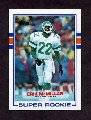 1989 Topps Football #223 Erik McMillan RC - New York Jets