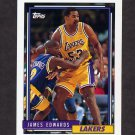 1992-93 Topps Basketball #374 James Edwards - Los Angeles Lakers