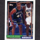 1992-93 Topps Basketball #339 Walter Bond RC - Dallas Mavericks