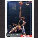 1992-93 Topps Basketball #276 Andrew Lang - Philadelphia 76ers