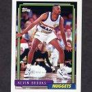 1992-93 Topps Basketball #225 Kevin Brooks - Denver Nuggets