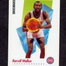 1991-92 Skybox Basketball #627 Darrell Walker - Detroit Pistons