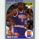 1990-91 Hoops Basketball #233 Kenny Battle RC - Phoenix Suns