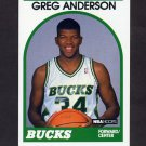 1989-90 Hoops Basketball #342 Greg Anderson - Milwaukee Bucks