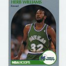 1990-91 Hoops Basketball #090 Herb Williams - Dallas Mavericks